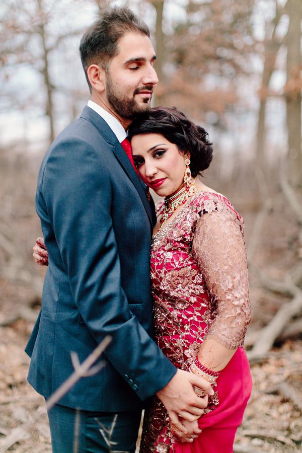34a Indian reception outdoor portrait in woods