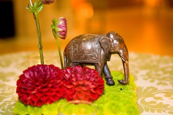 indian wedding elephant centerpiece