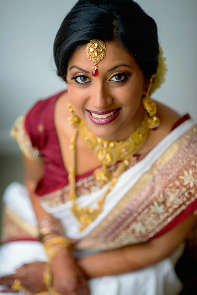9a indian wedding bridal sari and jewelry