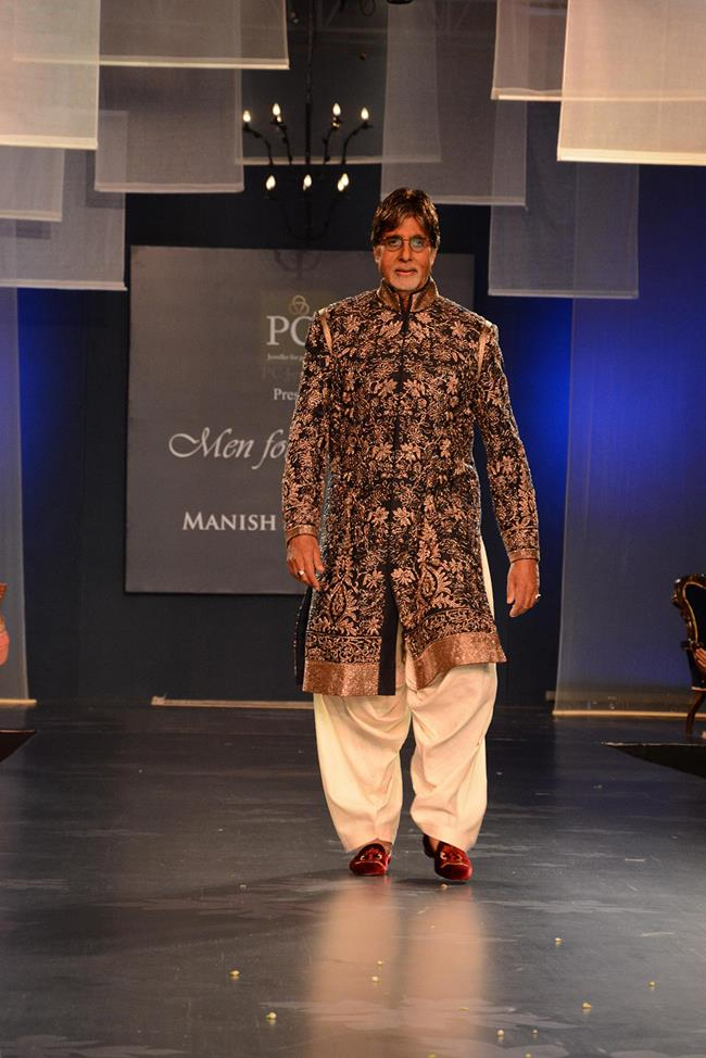 Manish Malhotra mens indian wedding fashion 1 Amitabh Bachchan