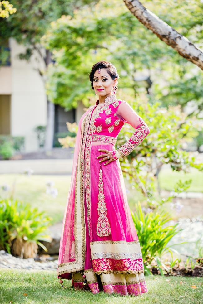 64aindian wedding pink lengha