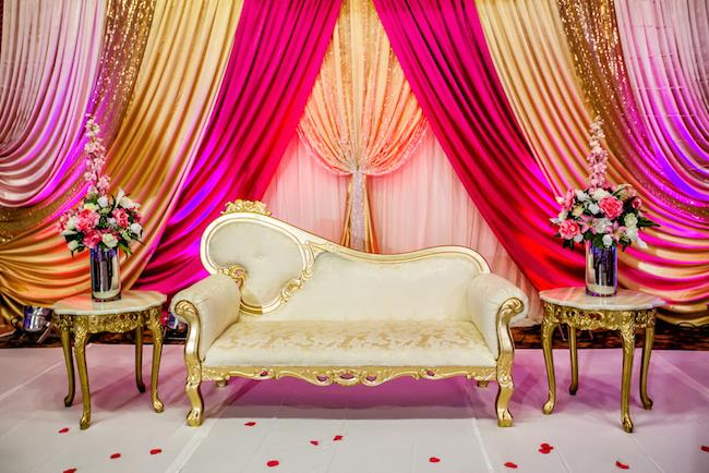 65aindian wedding staging decor