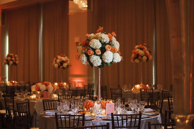 62a indian wedding tall centerpiece