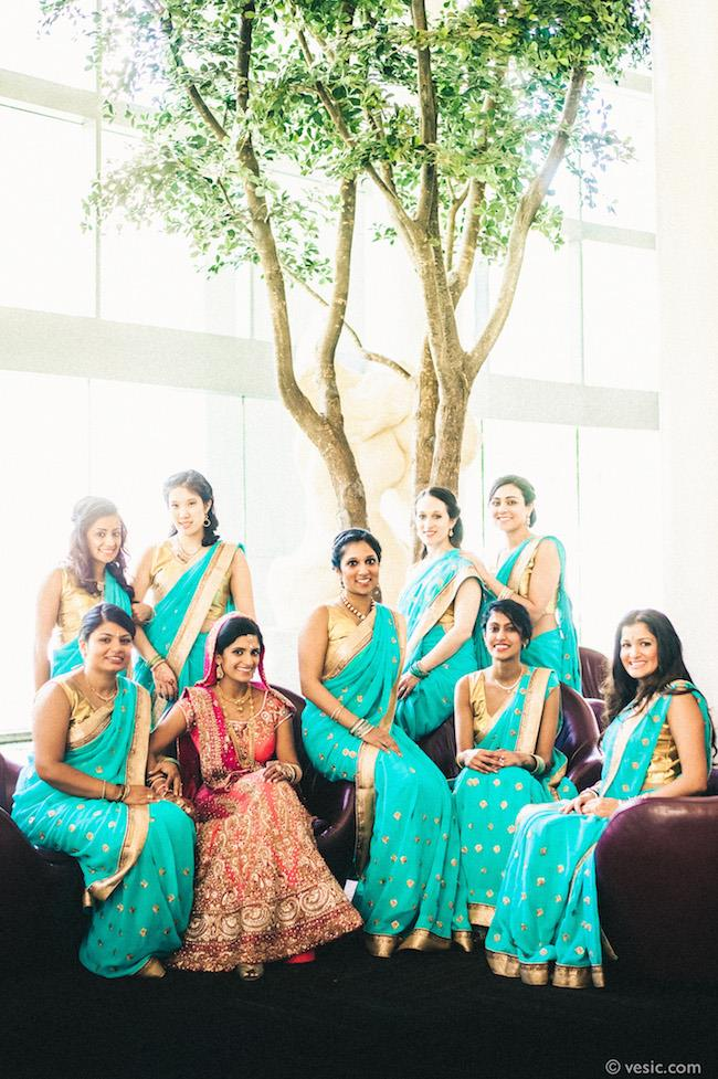 23a indian wedding bridal party
