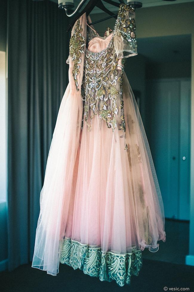 43a indian wedding pink wedding gown