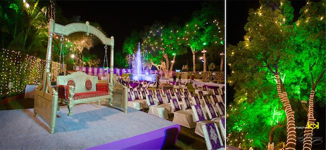 25a indian wedding outdoor nighttime decor