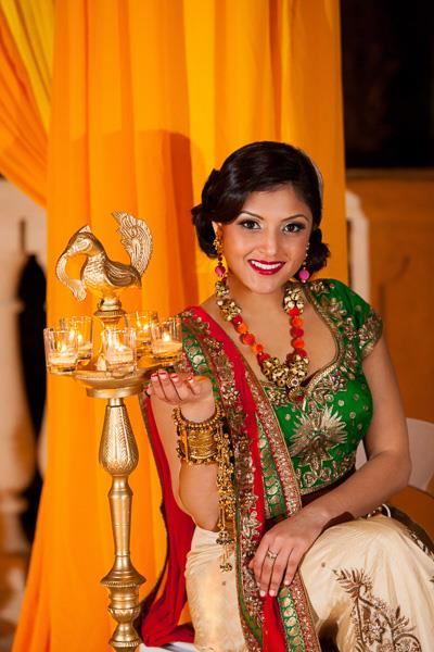 1a indian wedding green lengha