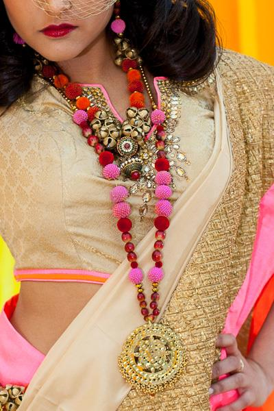 3 indian fashion floral and beaded jewelry