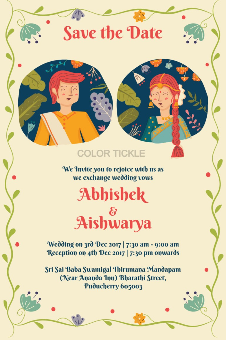 boho-inspired-indian-wedding-card-on-behance-save-the-date-indian-wedding
