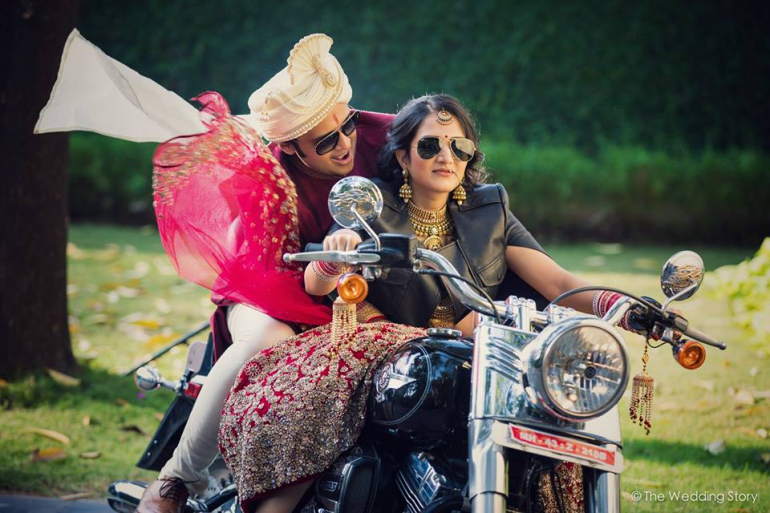 bride on bike - the wedding story 2