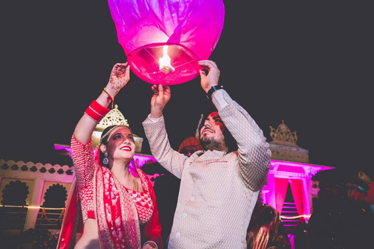 flying a lantern - mahima bhatia