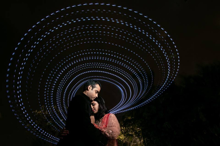 led light stick to make galaxy - weddings by ankit