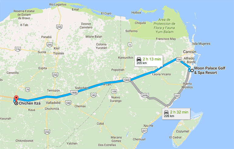 Moon Palace to Chichinitza