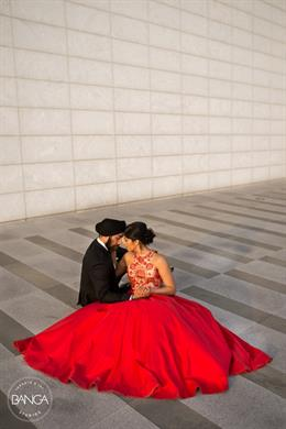 Glamorous Canadian Indian Engagement Shoot By Banga Studios