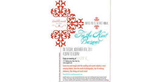 TanaRi Events Presents Tie the Knot Bazaar - Nov 8th - NYC