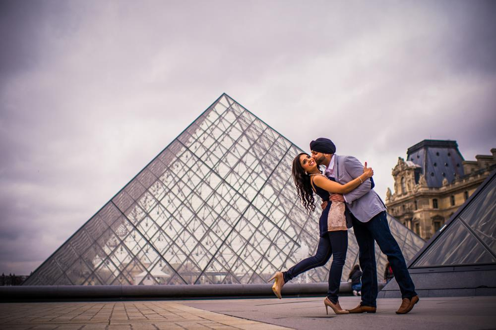 Parisian Indian Engagement Session by Rashpal Photography