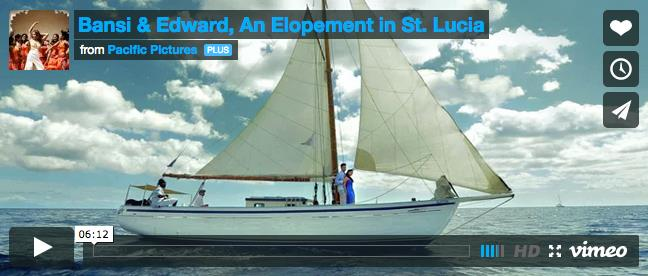 Indian Wedding Elopement Video in St. Lucia by Pacific Pictures