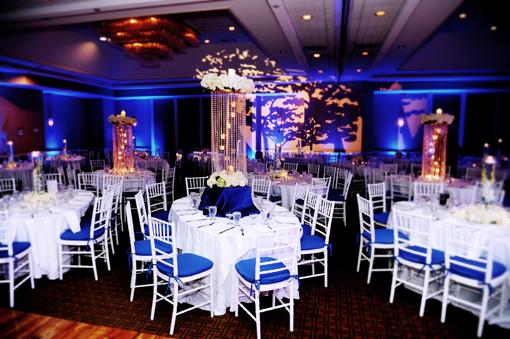 Blue and Purple Elegant Indian Wedding Reception