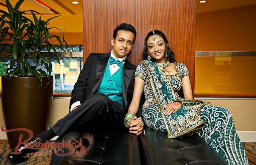Blue New Jersey Indian Wedding Reception