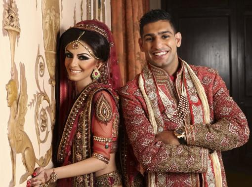 Boxer Amir Khan and Faryal Makhdoom - Celebrity South Asian Wedding