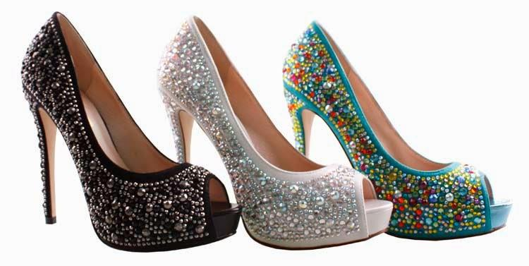 Crystal Colored Indian Wedding Shoes