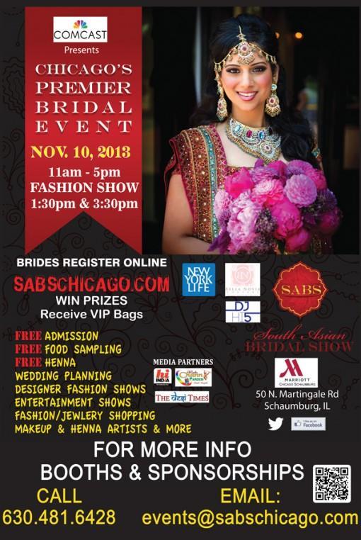 South Asian Bridal Show - Chicago - Sunday, November 10, 2013