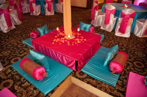 Chicago Pink and Blue Indian Sangeet