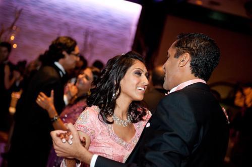Contemporary Lime Green and Fuschia Indian Wedding Reception