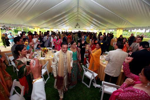 Daytime Outdoor Indian Wedding Reception