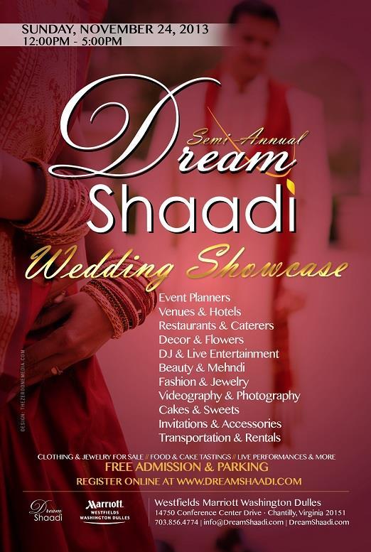 Dream Shaadi Wedding Showcase, Sunday, Nov 24 in VA