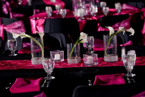 Fuchsia, Silver and Black Indian Reception by Victoria