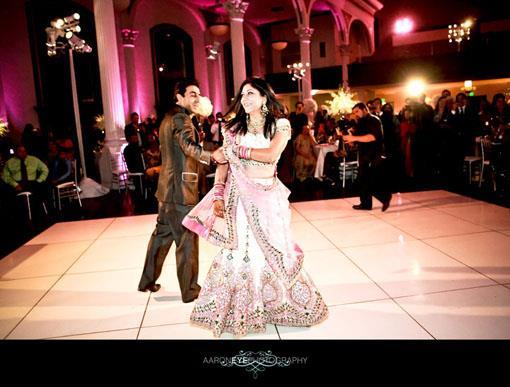 Gorgeous California Indian Wedding Reception at Vibiana