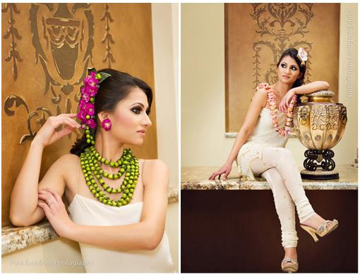 Indian Wedding Couture Floral Jewelry from tAnirika by Suhaag Garden