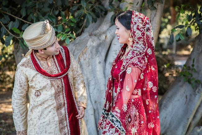 7a indian wedding first look