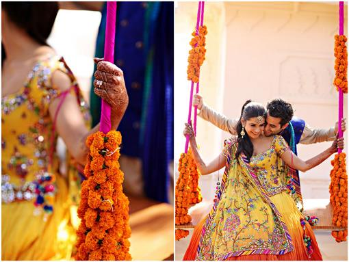 Indian Wedding Poolside Party in Udaipur India - 1
