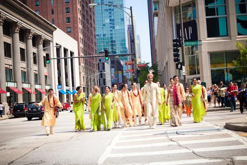 Indian Wedding Portraits and Bridesmaids in Saris