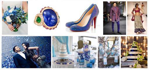 Indian Wedding Color Inspiration Palette - Winter Wonderland