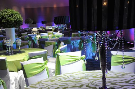 Lime Green and White Edgy Indian Wedding Reception