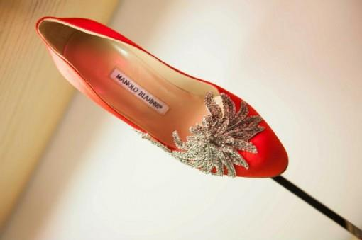 Manolo Blahnik Red Indian Wedding Shoes
