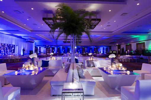Modern All-White Sangeet with Lounge Furniture - 1