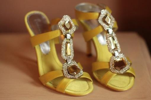 Tuesday Shoesday - Golden Satin and Smoky Topaz