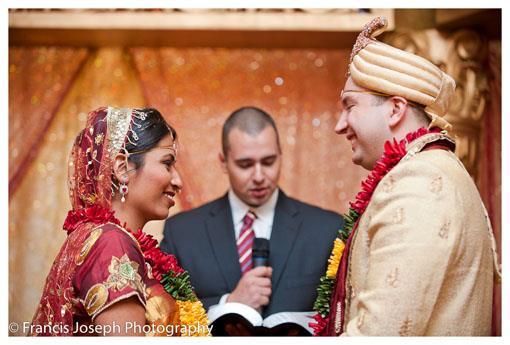 Orange and Red Indian Hindu Wedding Ceremony
