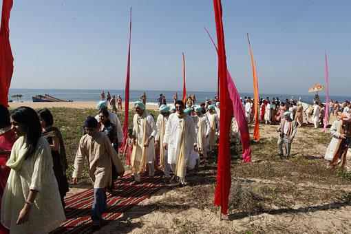 Outdoor Sikh Wedding on Goa Beach