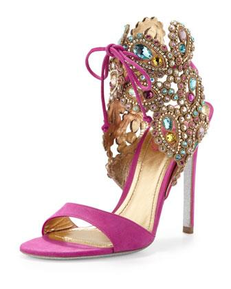 Pink Jewelled Heels - Tuesday Shoesday