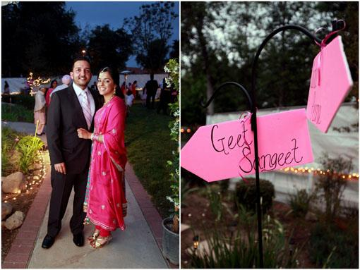 Pretty in Pink Indian Sangeet in California