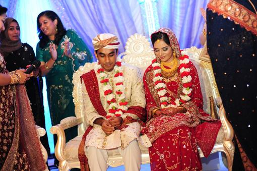Purple and White Virginia Muslim Wedding