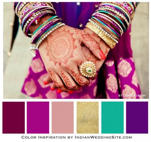 Purple, plum and gold - Indian Wedding Color Inspiration