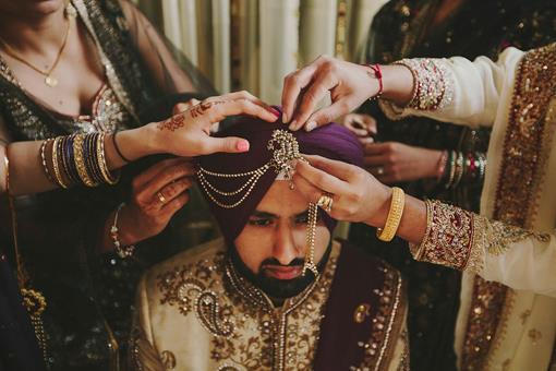 Purple Sikh Indian Wedding - 2