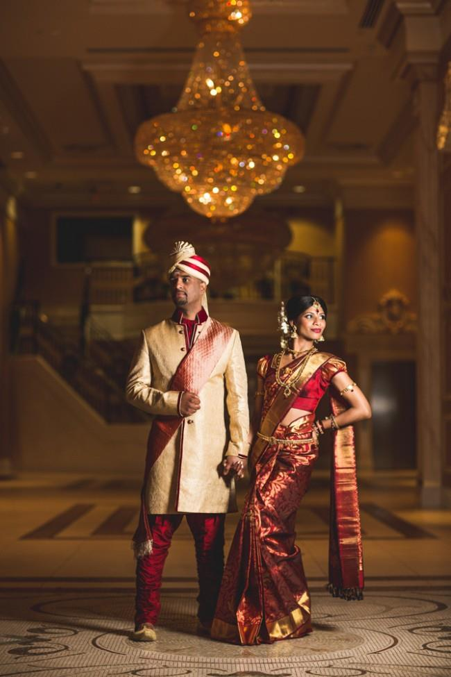 30a South indian bride and groom portrait