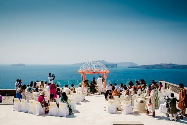 13a Outdoor Hindu Wedding Ceremony Greece